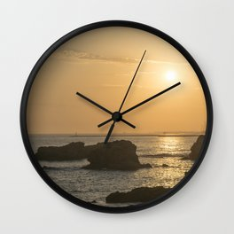 Crystal Cove Sunset Wall Clock