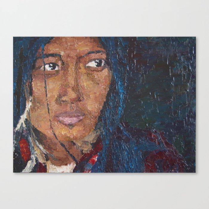 TIBETAN WOMAN Canvas Print