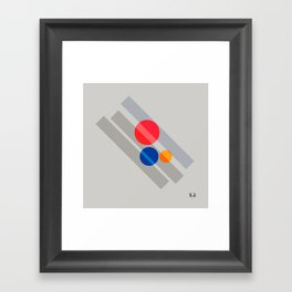 Abstract Suprematism Equilibrium Art Red Blue Yellow Framed Art Print