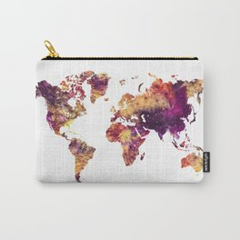Map of the World purple Carry-All Pouch