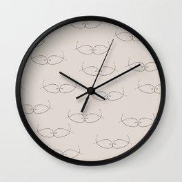 Seeing Kissing Fish Wall Clock