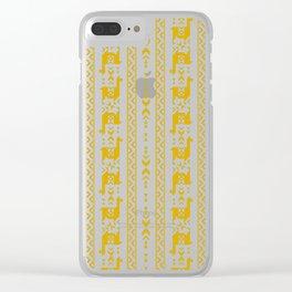Llamas_Mustard Clear iPhone Case