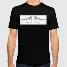 Black and White Blue Jay MEDIUM Black Mens Fitted Tee