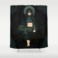 clover Shower Curtains featuring Clover by Nano Rain