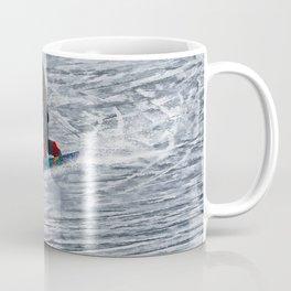 Cutting Corners - Winter Snow-boarder Coffee Mug