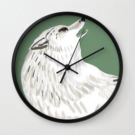 Totem Alaska tundra wolf Wall Clock