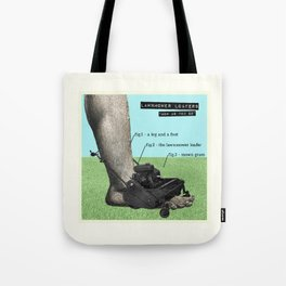 Lawnmower Loafers Tote Bag