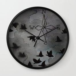Head South Wall Clock