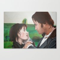 pride and prejudice Canvas Prints featuring Pride & Prejudice by Caroline Ward
