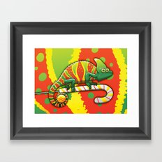 Christmas Chameleon Framed Art Print