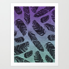Feather Fade Art Print