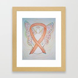 Childhood Cancer Gold Awareness Ribbon Angel Art Painting Framed Art Print