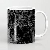 nashville Mugs featuring nashville map by Line Line Lines