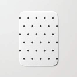 Black and white Polka Dots Pattern Bath Mat