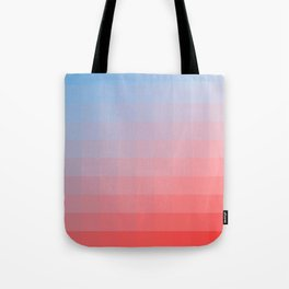 Lumen, Red, White and Blue Glow Tote Bag