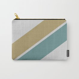 Gold & Teal Stripes Carry-All Pouch