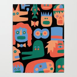 COLORFUL FACES Poster