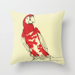 Coney Island Macaw Throw Pillow