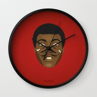 quibe Wall Clocks featuring Coupling up (accouplés) Muhammad Dali by quibe