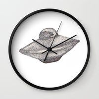 ufo Wall Clocks featuring UFO by nach-o-kid