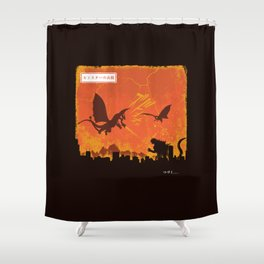 Kaiju War Shower Curtain