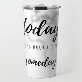 Make It Happen (Black & White) Travel Mug