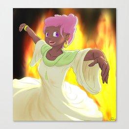 Dancer of Fire Canvas Print