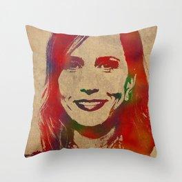 Kristin Wiig Watercolor Throw Pillow