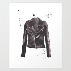 Motorcycle Jacket Art Print
