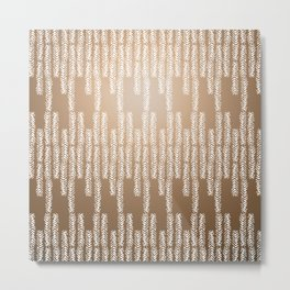 Eye of the Magpie tribal style pattern - gold Metal Print
