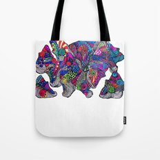 Mongali Faces Tote Bag