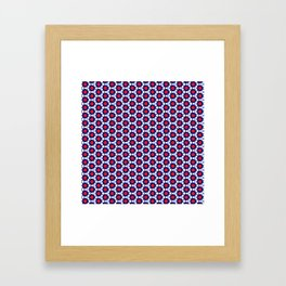 Red & Blue Pattern Framed Art Print