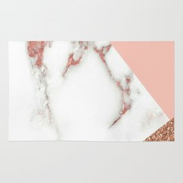 Marble - pink and gold Rug