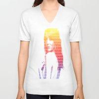 emma stone V-neck T-shirts featuring Emma Stone, Typography  by fghdjsk
