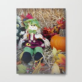 Little Miss Scarecrow Metal Print