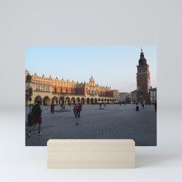 Krakow city center Mini Art Print
