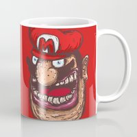 mario kart Mugs featuring Mario by Lime