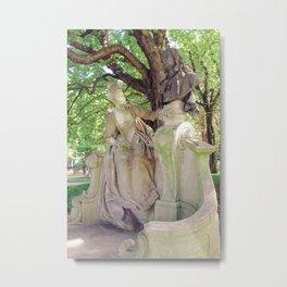 Statues tell Stories Metal Print