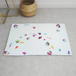 Drift Gently - Abstract painting by Jen Sievers Rug