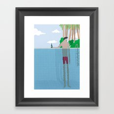 In the pool Framed Art Print
