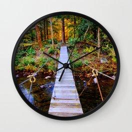 Swing Bridge Bear Creek Preserve, PA Wall Clock