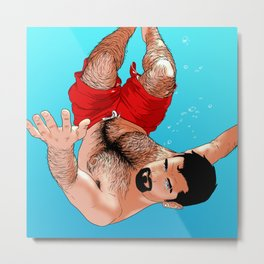 Ludo's swimming Metal Print