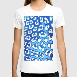 Blue and White Leopard Spots T-shirt