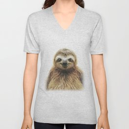 Young Sloth Unisex V-Neck