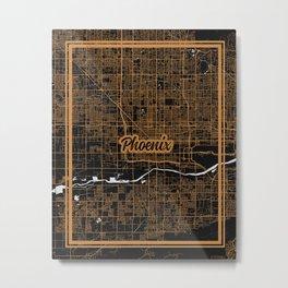 Phoenix   Arizona   United States - Minimalist City Map Metal Print