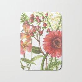 Bodega Berry Floral Bath Mat