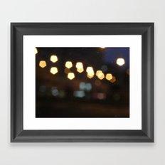 Scrached lightings Framed Art Print