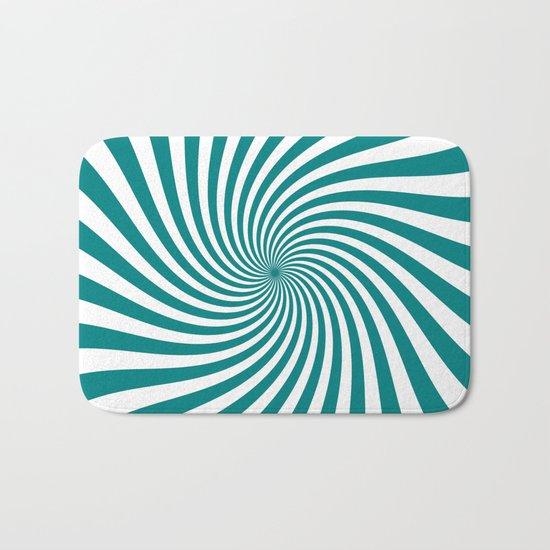 Swirl (Teal/White) Bath Mat
