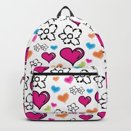 Hearts and Flowers Backpack