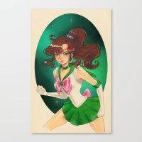 sailor jupiter Canvas Prints featuring Sailor jupiter by Tae V